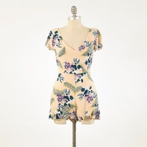 For Love & Lemons Dainty Floral Shorts Romper